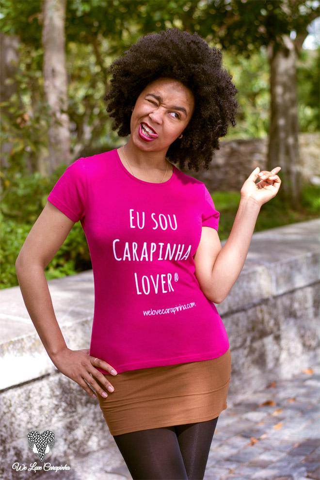 Carla 1, t-shirt rosa, tamanho S